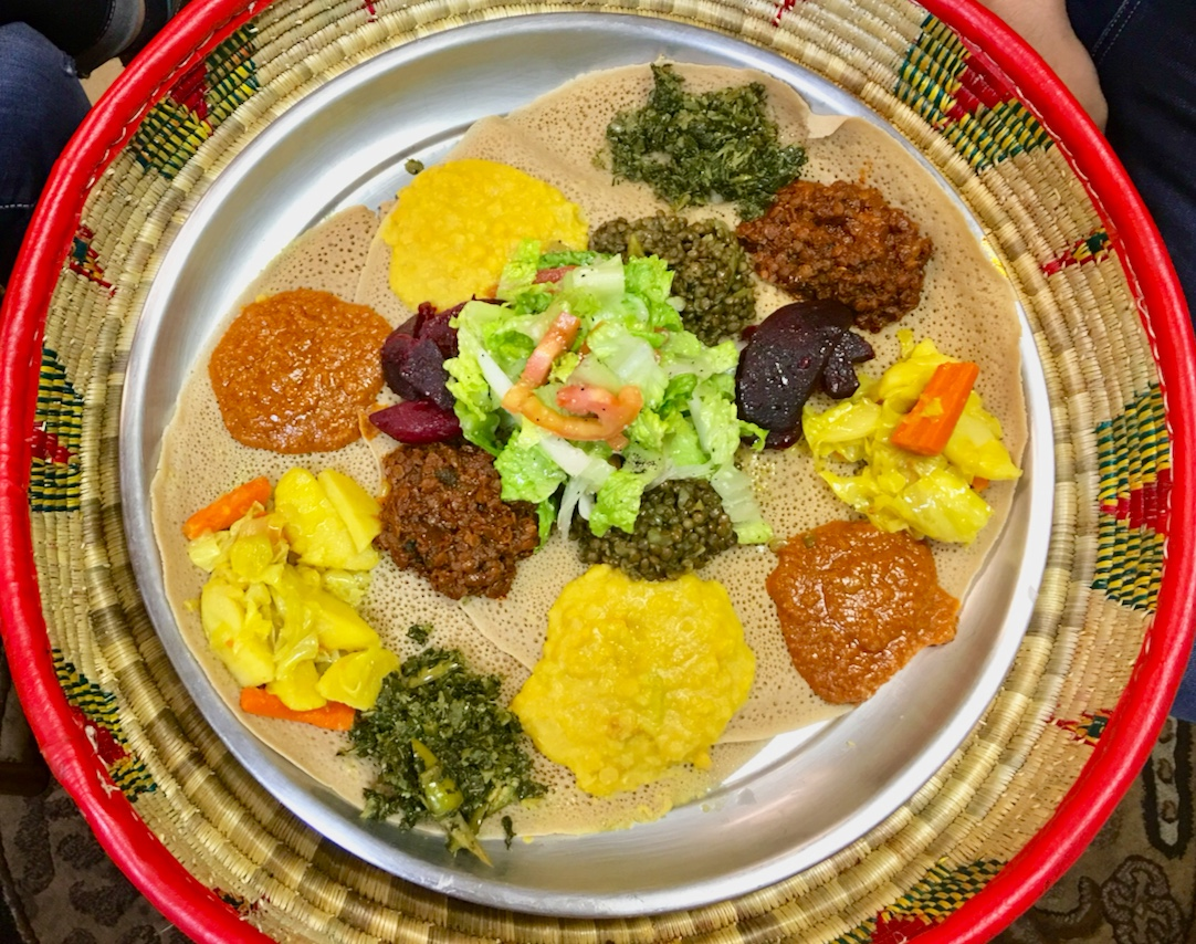Lucy's Ethiopian offers vegan Ethiopian food and is open late-night in Las Vegas. For more vegan dining in Las Vegas, visit www.vegansbaby.com/vegansbaby2018