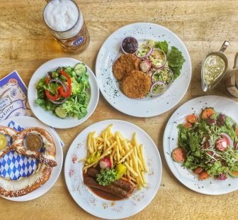 Hofbrauhaus Las Vegas has German vegan food. For more vegan dining options in Las Vegas, visit www.vegansbaby.com