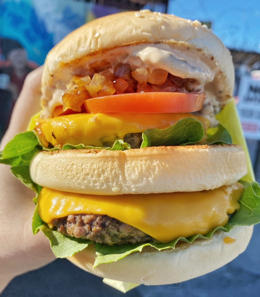 Underground Burgers is delivering vegan burgers to Las Vegas. For more vegan dining visit www.vegansbaby.com